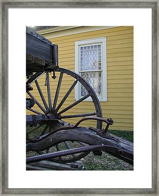Framed Print featuring the photograph Woodgrain And Lace by Nancy Taylor