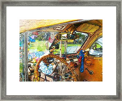 Woodie World Framed Print by Deborah Hildinger
