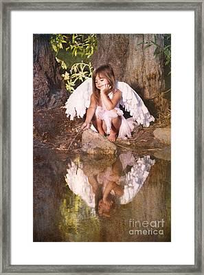 Woodland Fairy Framed Print by Cindy Singleton