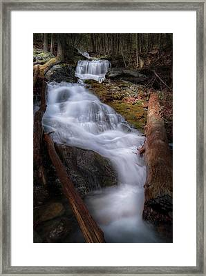 Framed Print featuring the photograph Woodland Falls 2017 by Bill Wakeley
