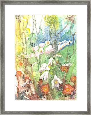Framed Print featuring the painting Woodland Garden by Renate Nadi Wesley