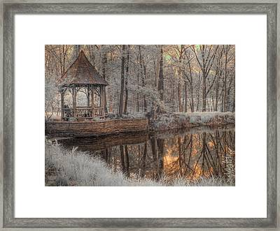 Woodland Gazebo Framed Print