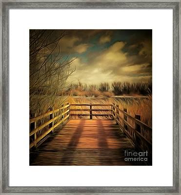 Woodland Jetty Framed Print by Pixel Chimp