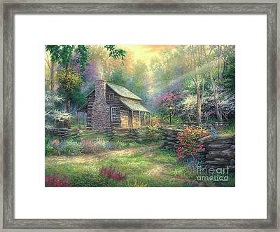 Woodland Oasis Framed Print by Chuck Pinson
