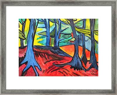 Woodland Scene Framed Print