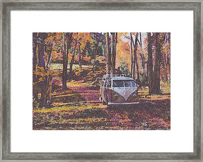 Woodland Framed Print by Sharon Poulton