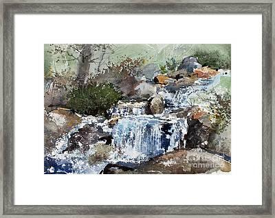 Woodland Stream Framed Print by Monte Toon