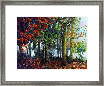 Framed Print featuring the painting Woodland Trail by Hailey E Herrera