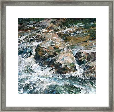 Woodland Waterway Framed Print