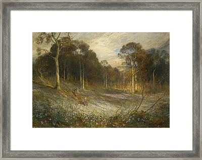 Woodlands Gay With Lady Smocks Framed Print by MotionAge Designs