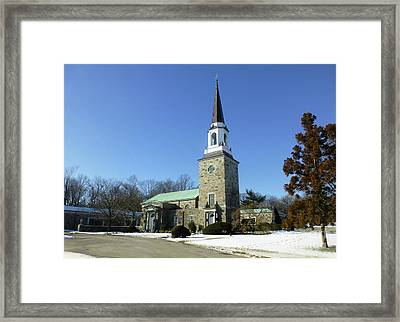 Woodlawn Cemetery Chapel Framed Print