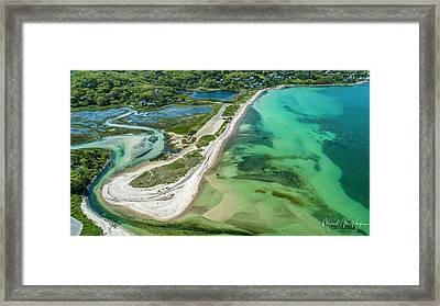 Framed Print featuring the photograph Woodneck Beach by Michael Hughes
