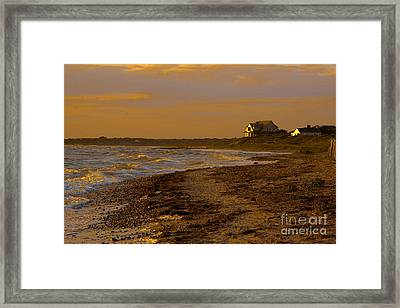 Woodneck Beach Sunset Framed Print by Michael Petrizzo