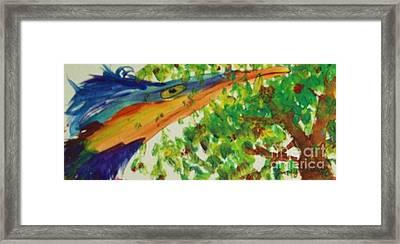 Woodpecker Framed Print by Jamey Balester