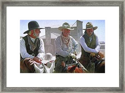 Woodrow - Gus - Jake Framed Print by Donna Kennedy