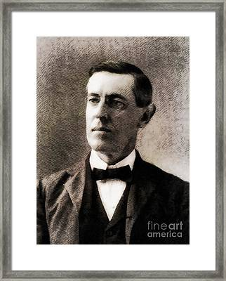 Woodrow Wilson, President Of The United States By John Springfield Framed Print by John Springfield