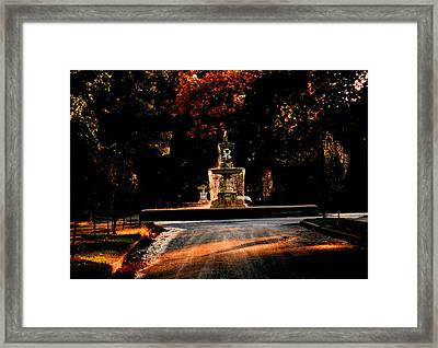 Woodruff Place Fountain  Framed Print by Martin Morehead