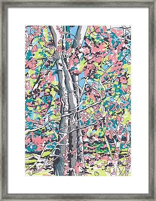 Woods #3 Framed Print by Carolyn Alston Thomas
