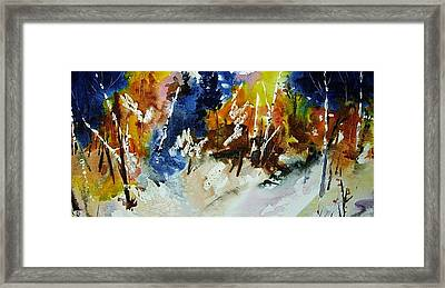 Woods Abalze Framed Print by Wilfred McOstrich