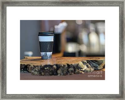 Framed Print featuring the photograph Woods Coffee by Jim  Hatch