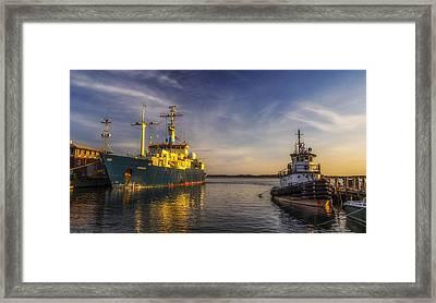 Woods Hole Ship Yard Framed Print