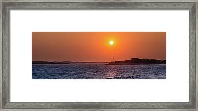 Woods Hole Sunset Framed Print