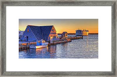 Woods Hole Sunset Framed Print