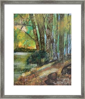 Woods In The Afternoon Framed Print by Robin Maria Pedrero