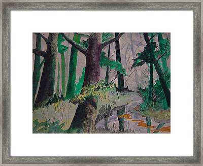 Woods Framed Print by Ron Sylvia