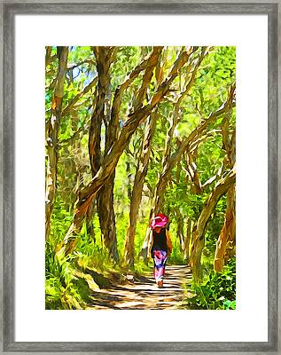 Woods Walk Framed Print by Dennis Cox WorldViews