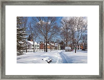 Woodstock Green Framed Print