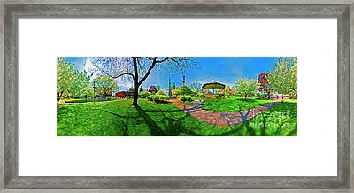 Woodstock Square Historic District 360 Spring Framed Print