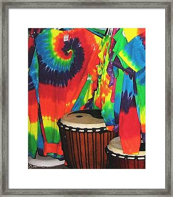 Woodstock - Tie Dyed Tees And Drum Set - Signed Limited Edition Framed Print