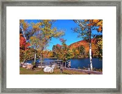 Woodward Reservoir - Plymouth, Vt Framed Print by Joann Vitali