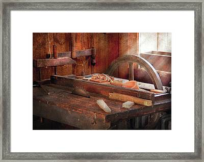 Woodworker - The Table Saw Framed Print by Mike Savad