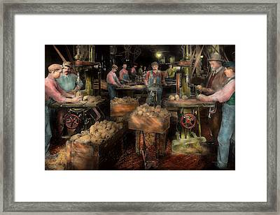 Woodworking - Toy - The Toy Makers 1914 Framed Print by Mike Savad