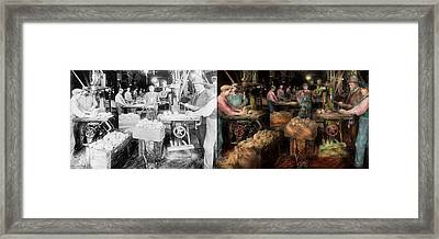 Woodworking - Toy - The Toy Makers 1914 - Side By Side Framed Print by Mike Savad