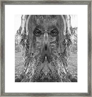 Woody 140bw Framed Print by Rick Mosher