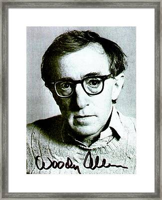 Woody Allen Autographed Portrait Framed Print by Pd
