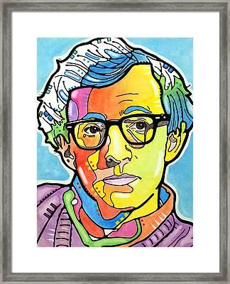 Woody Allen Framed Print by Dean Russo