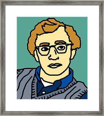 Woody Allen Framed Print by Jera Sky