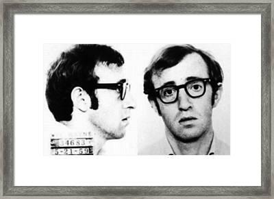 Woody Allen Mug Shot For Film Character Virgil 1969 Framed Print