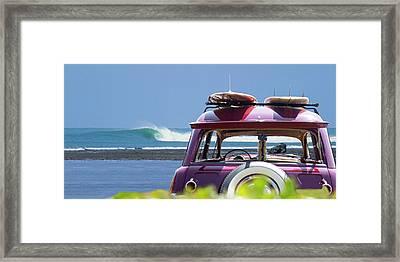 Woody Barrel Framed Print