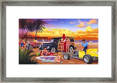 Woody Beach Framed Print