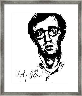 Woody Black N White  Framed Print by Enki Art