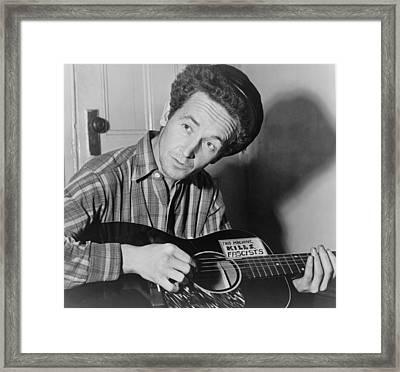 Woody Guthrie 1912-1967, Folk Singer Framed Print