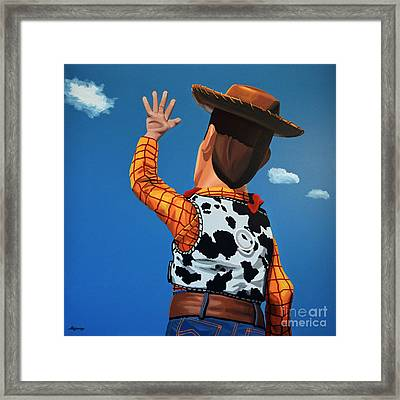 Woody Of Toy Story Framed Print by Paul Meijering