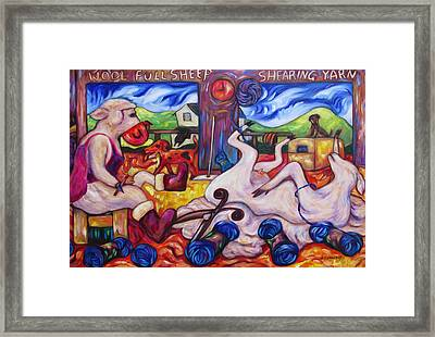 Wool Industry Woes Framed Print