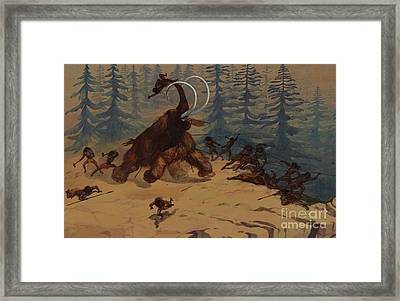 Woolly Mammoth Framed Print by Ernest Henry Griset