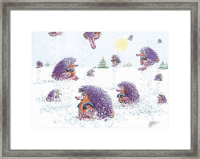 Woolly Snow Hoppers Framed Print